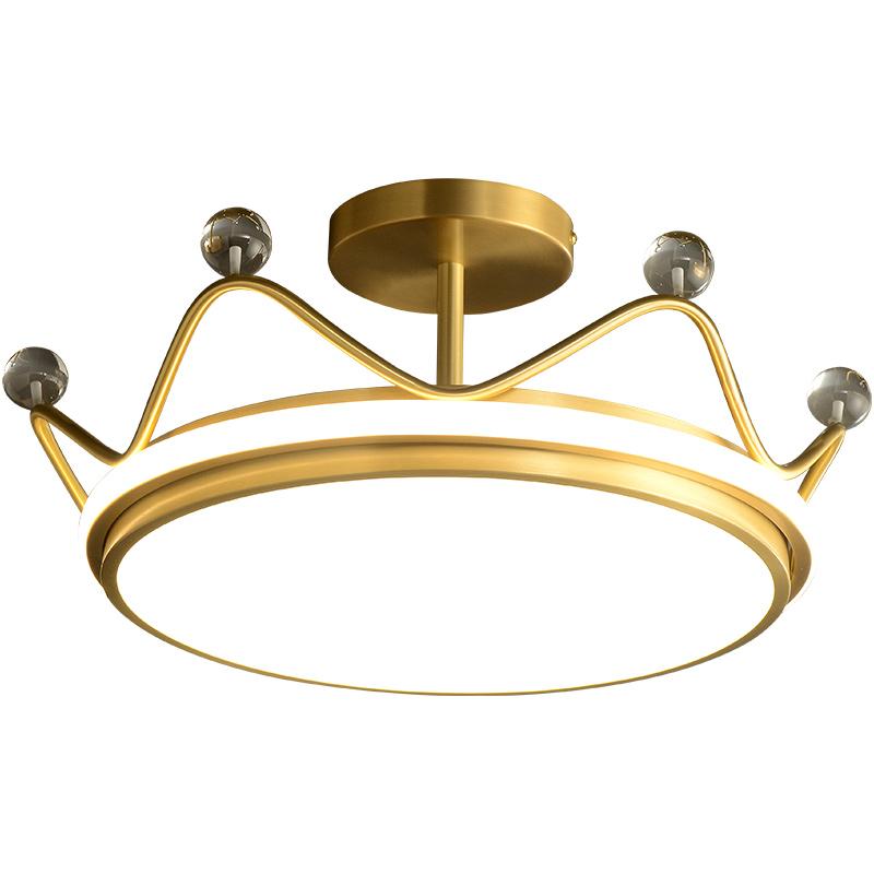 全铜皇冠北欧吸顶灯 0716538