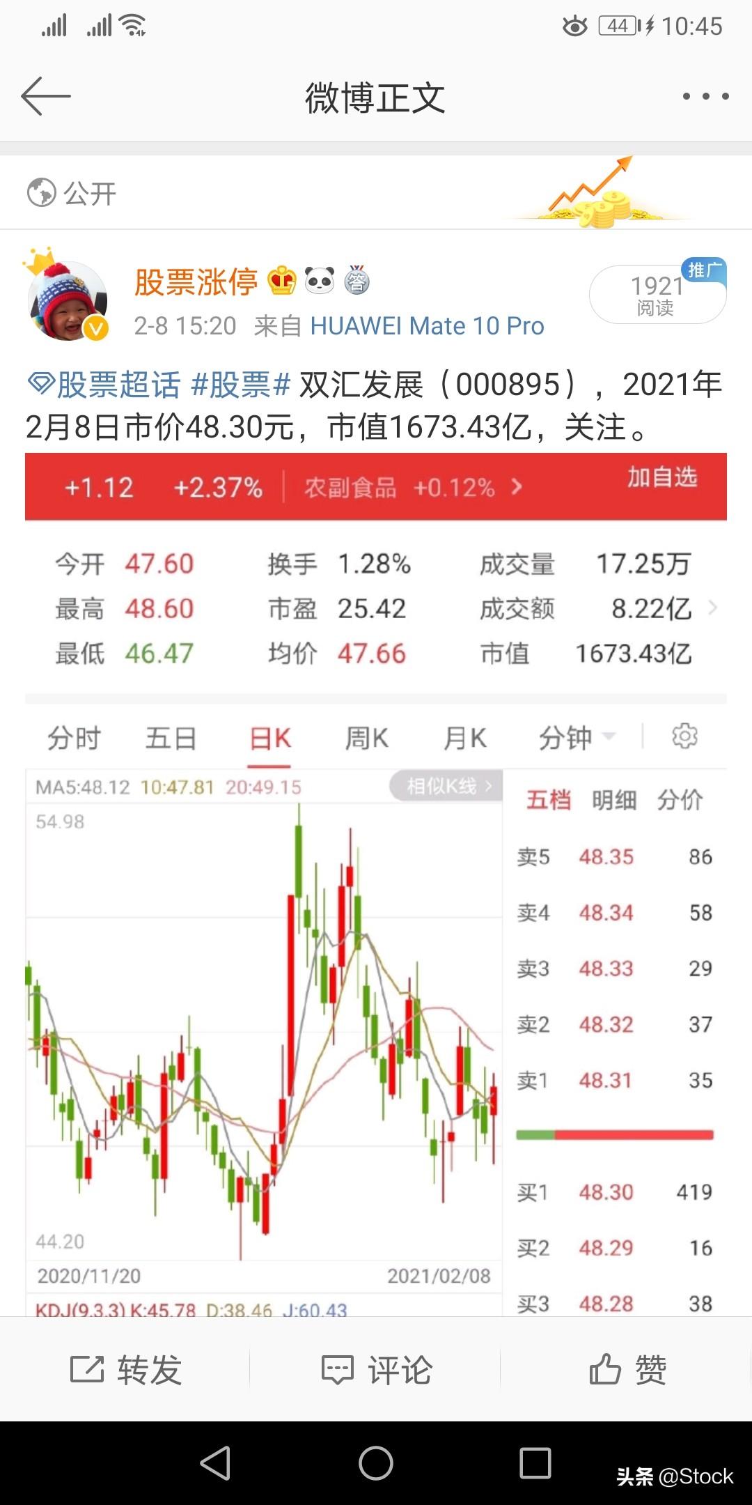 Stock曾经在微博上推荐过的股票:美的、招行、白药、伊利