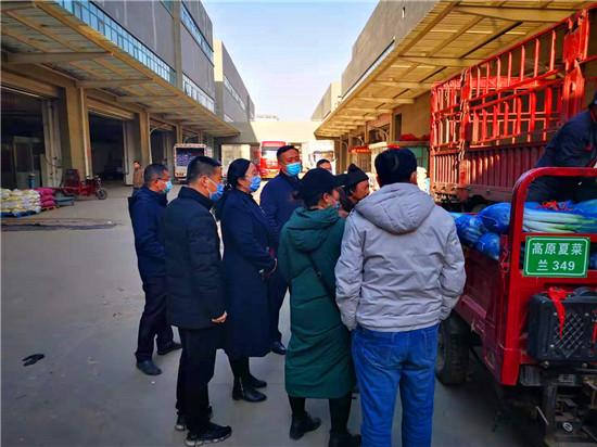 兰州市商务局局长李俐娟调研兰州高原夏菜采购中心