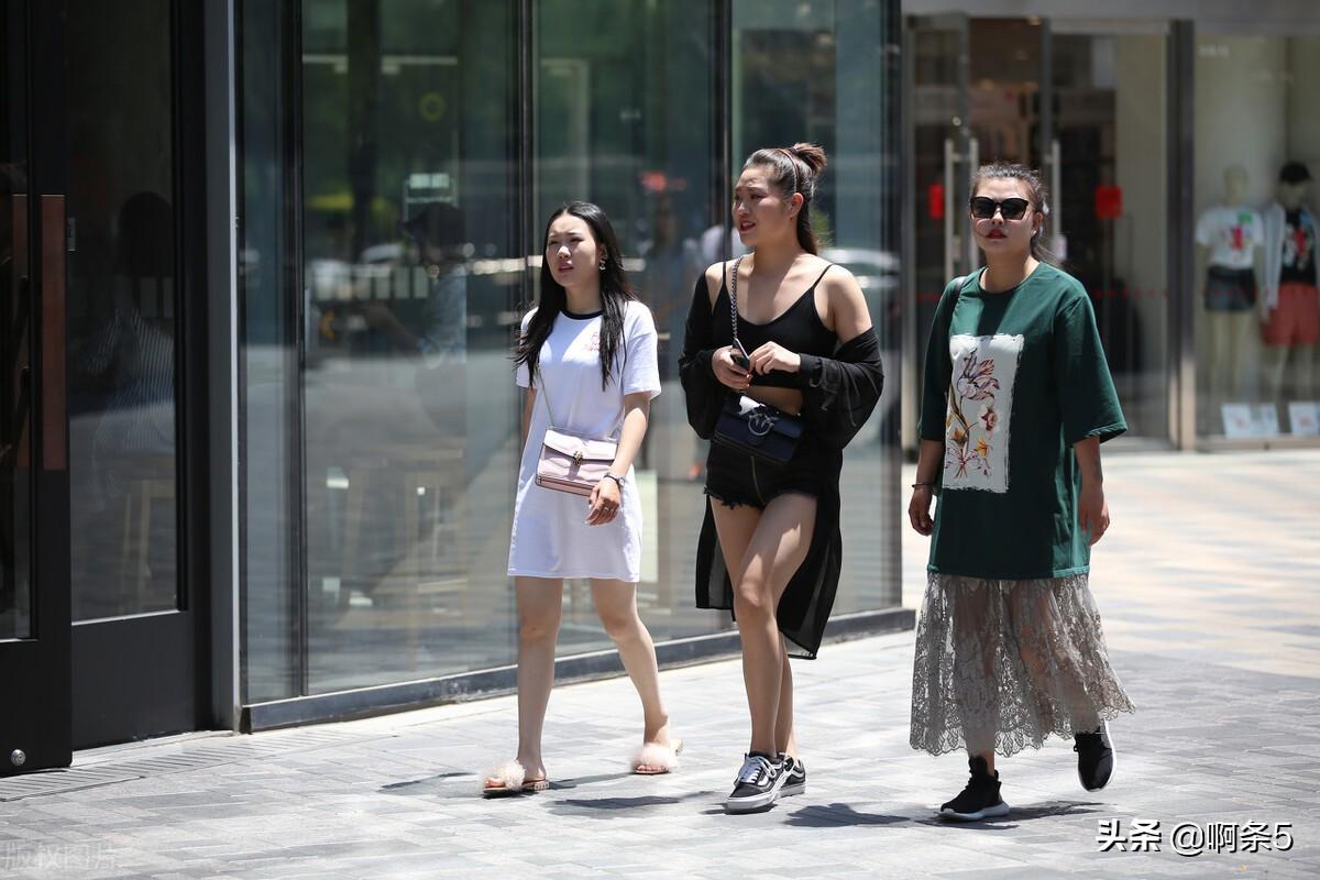 北京三里屯的美女街拍