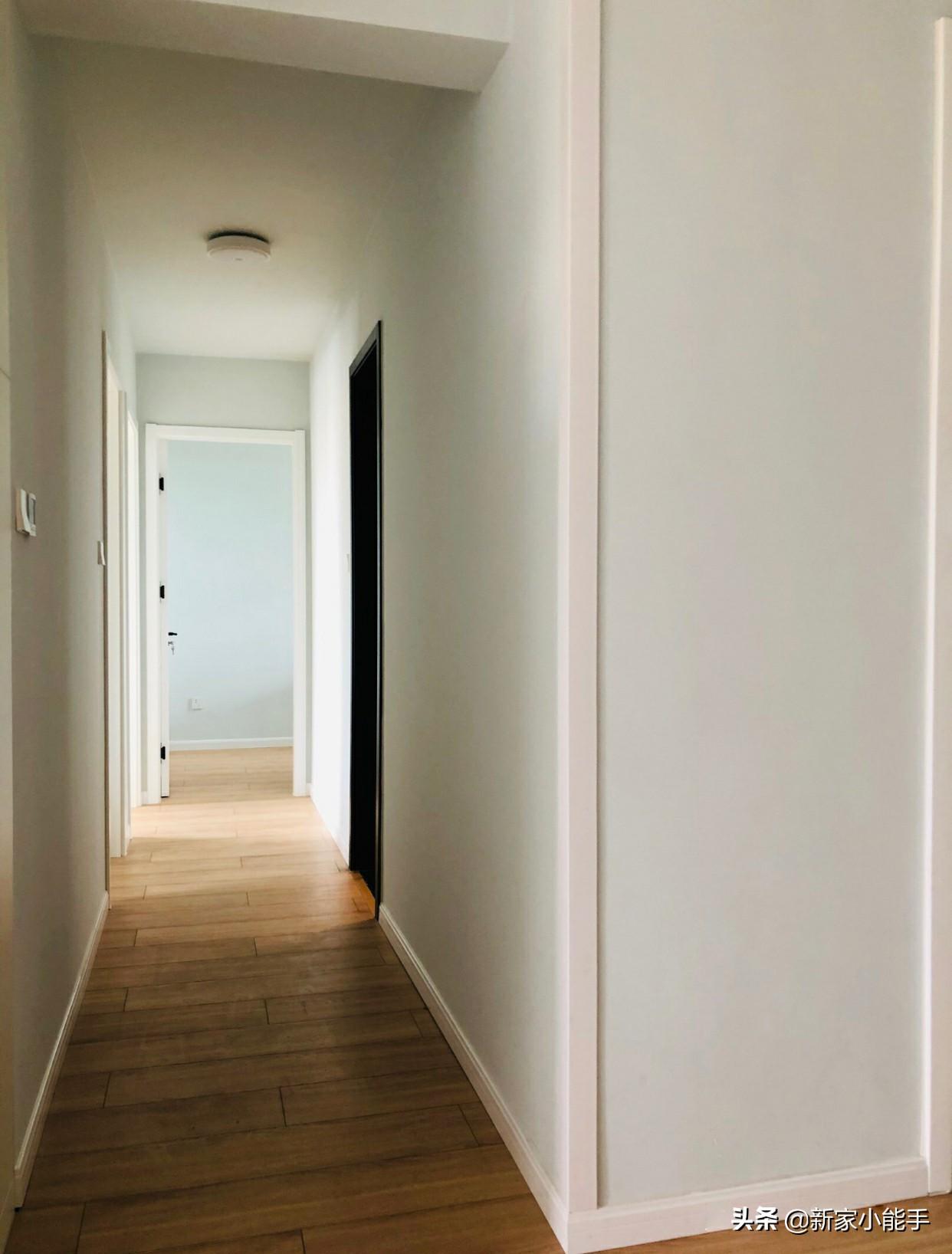 75平新房,全屋布置智能家居很有科技感,电视墙打满柜子很实用