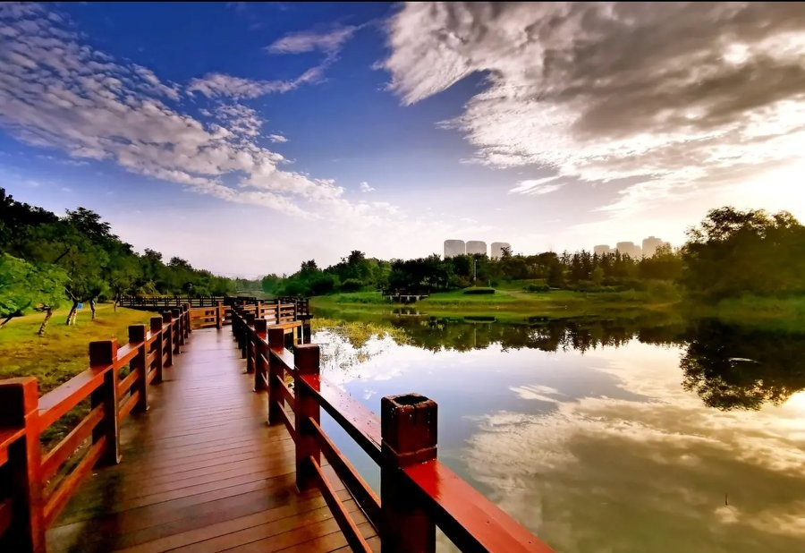 西安东郊最适合全家一起去的免费公园——桃花潭公园
