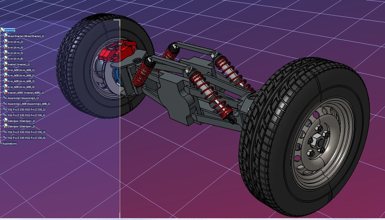 ATV Suspension悬挂悬架概念模型3D图纸 STP格式