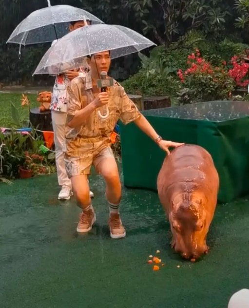 萧敬腾广州活动路透曝光,果然又下雨了