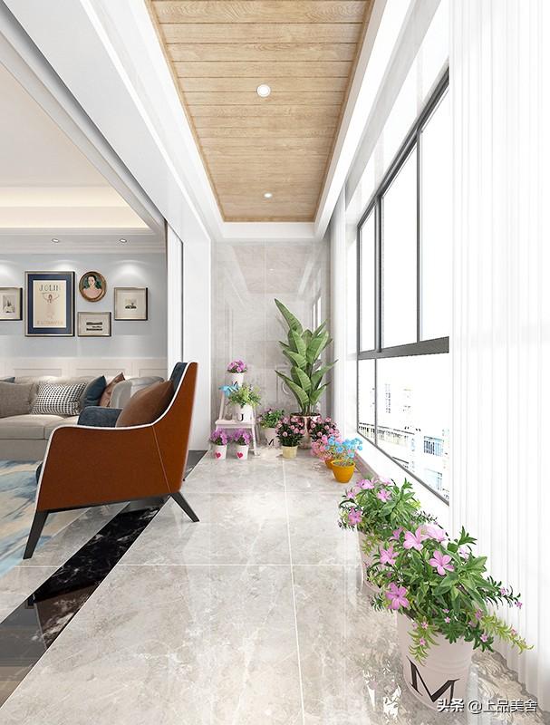 112平四房裝簡美風格,用藍色做主色調,處處給人大自然般的驚艷