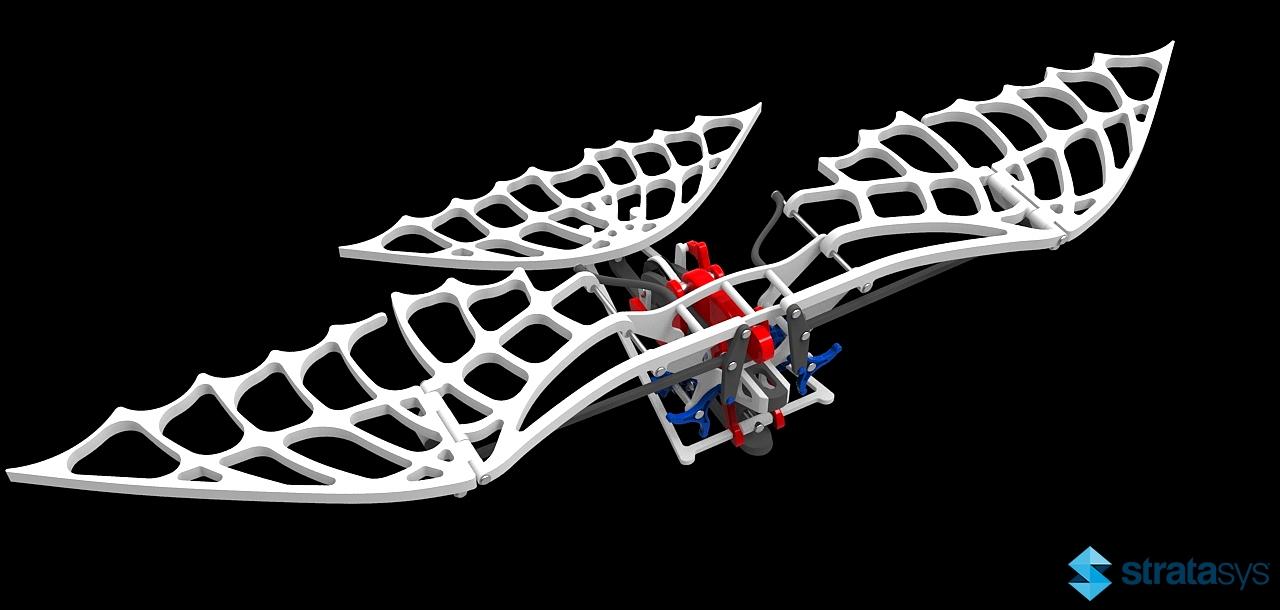 仿DaVinci扑翼结构飞行器3D图纸 STP x_t STL等格式