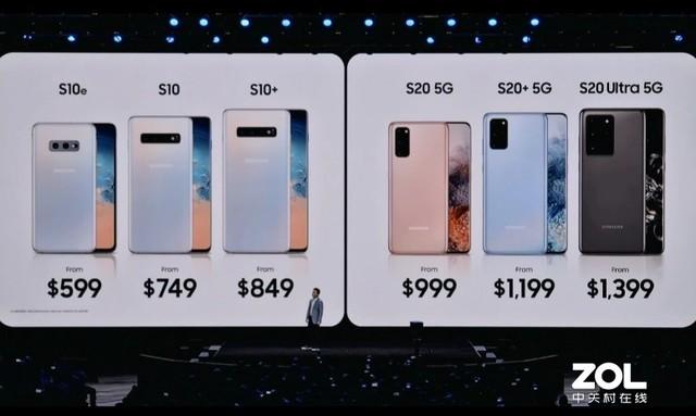 999美元起!所有适用5G三星Galaxy S20系列产品价钱发布