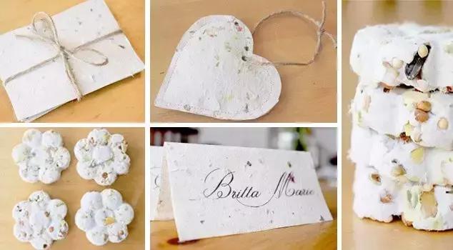 把废纸撕碎,做美丽的鲜花再生纸,成品也太美了吧...