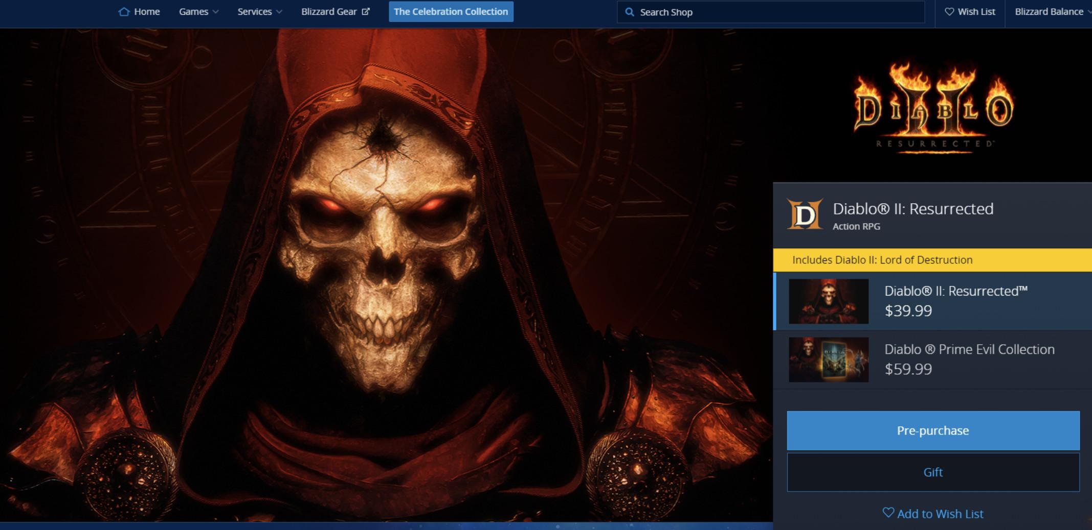 《暗黑破坏神2》重制版公布 登陆PC和所有主机平台