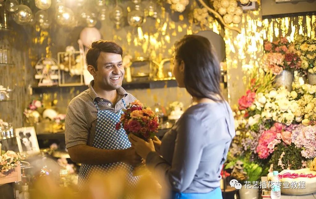 新手开花店 接待客户,必须知道的几个技巧