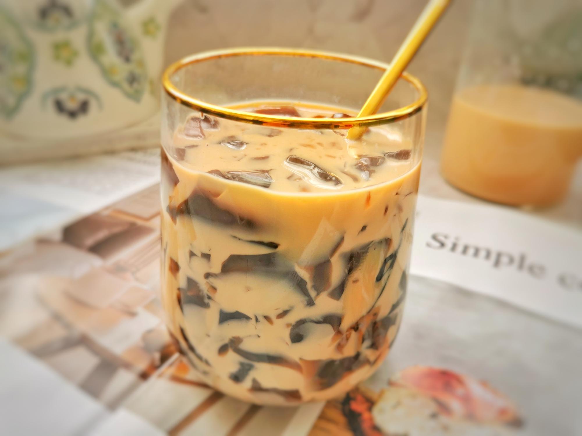 一點點同款咖啡凍奶茶,香濃爽滑,自己做乾淨衛生零添加,省錢了