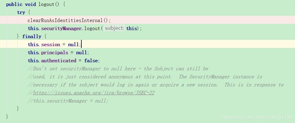SpringBoot + Shiro登出源码解析