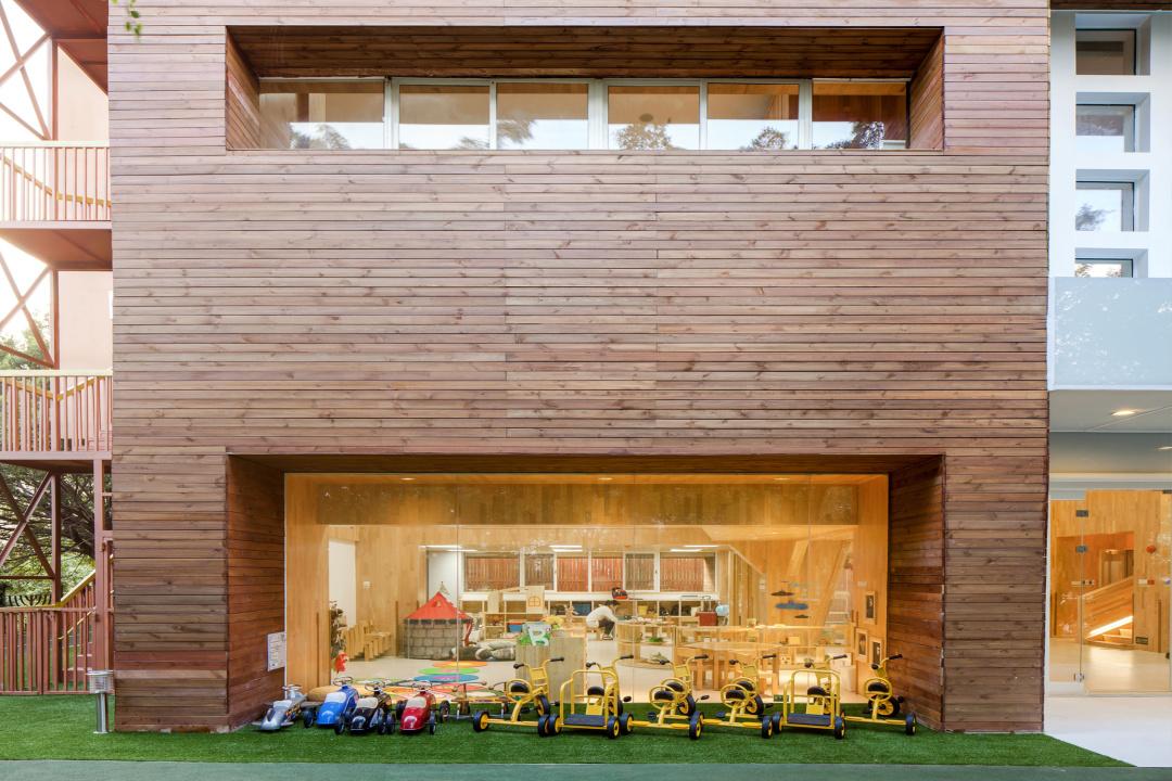幼儿园设计 化繁为简,回归自然,用原木风创造最温馨的学习环境