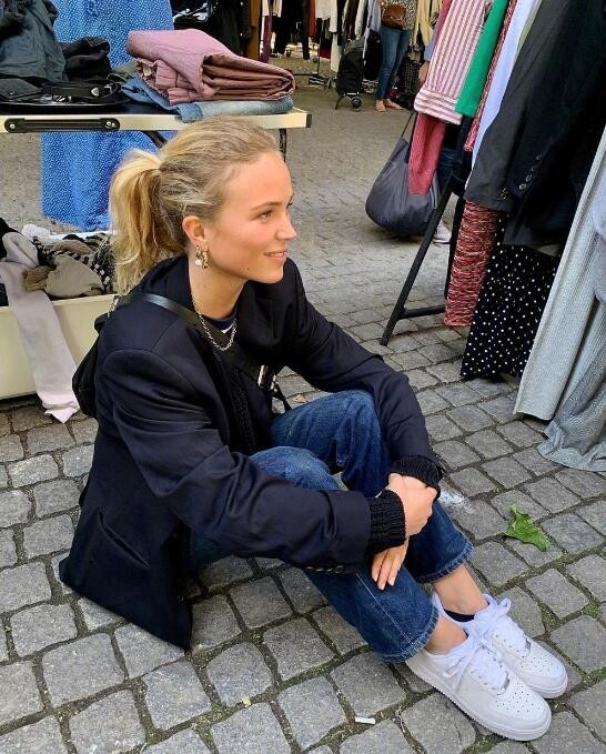 哥本哈根ins博主Katarina随性舒适的复古穿搭