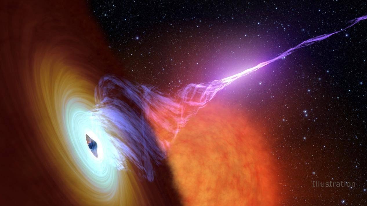 相聚遥远的一个黑洞每9小时增亮一次,没人知道为什么