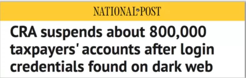 突发!加拿大税务局提醒:今天封锁80万人账户!你应这样做…