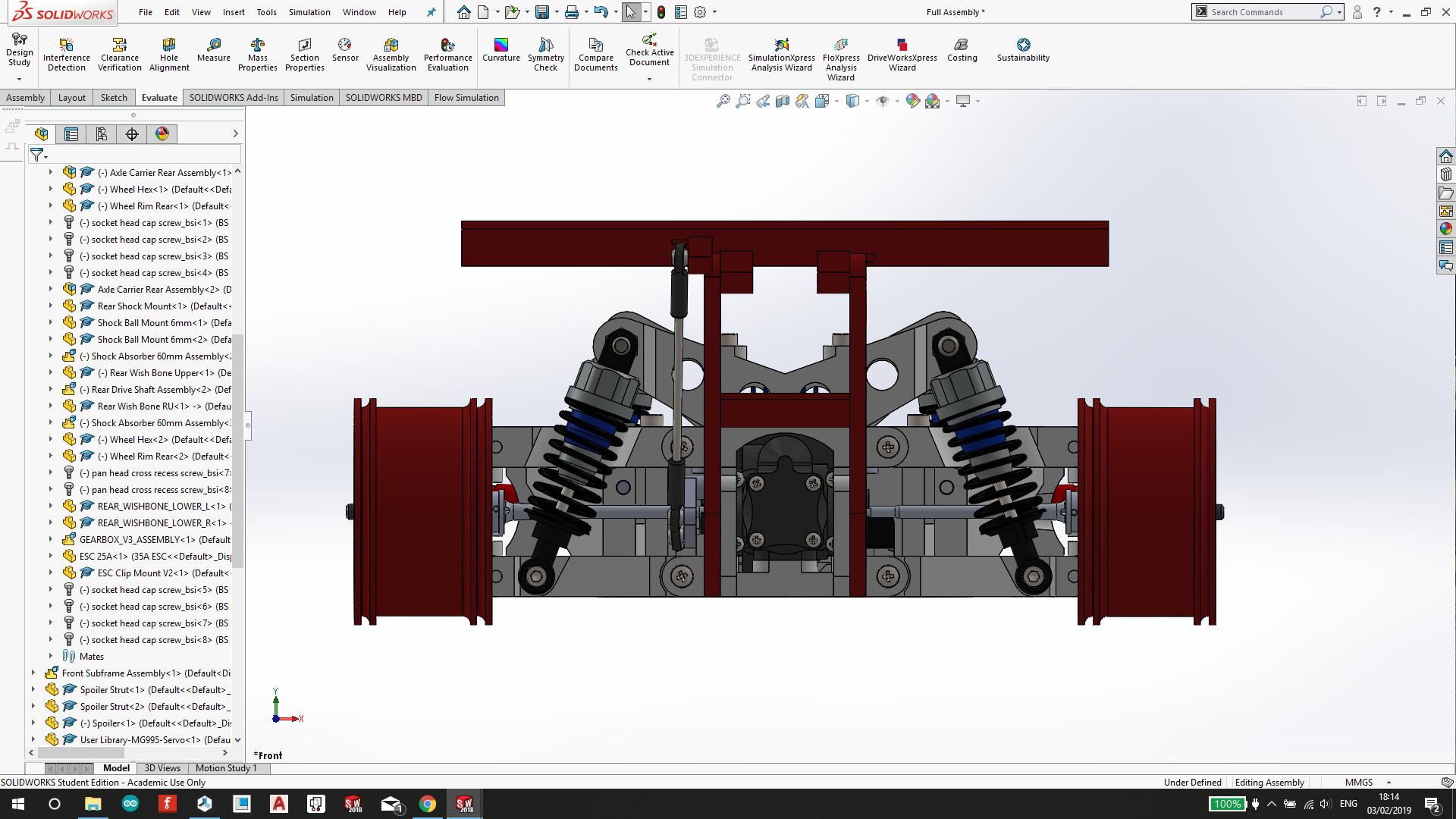 Wltoys A959 RC遥控车模型3D图纸 Solidworks2018 附STEP