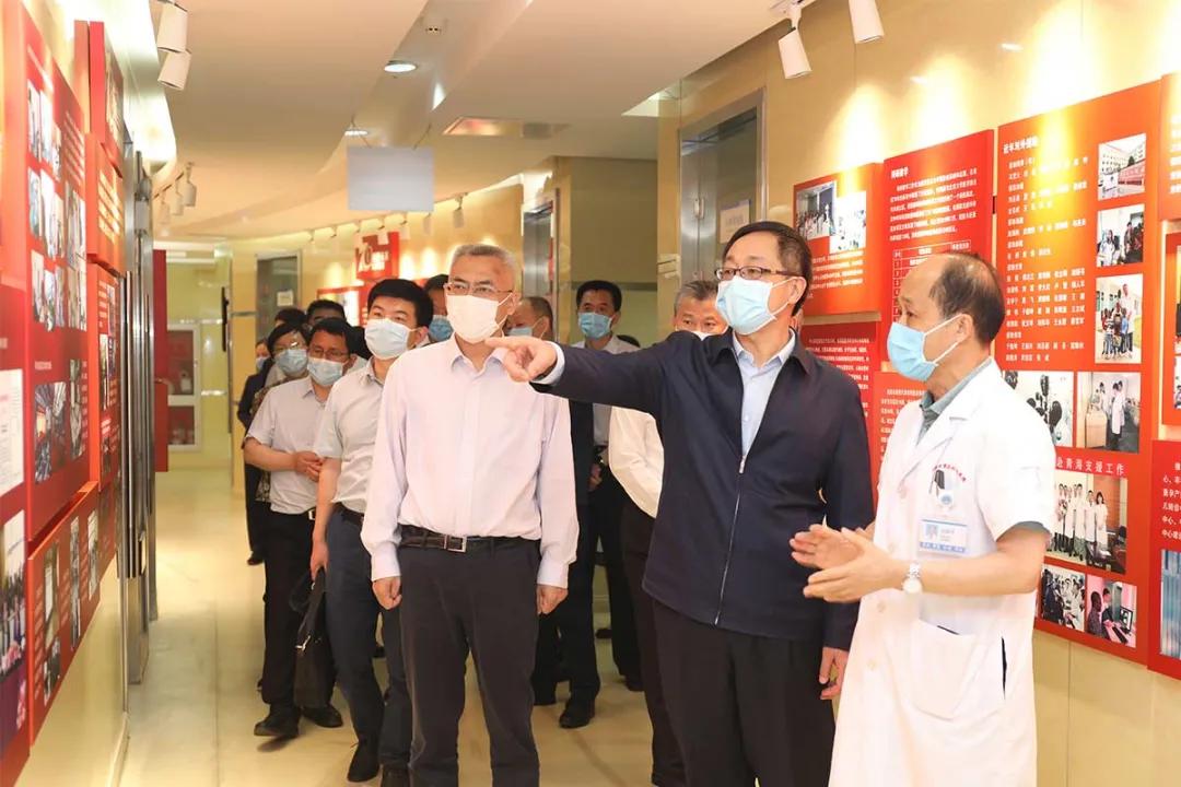国家卫健委副主任于学军到北京大学滨海医院调研