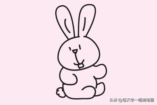 可爱的小兔子简笔画画法步骤教程及图片大全