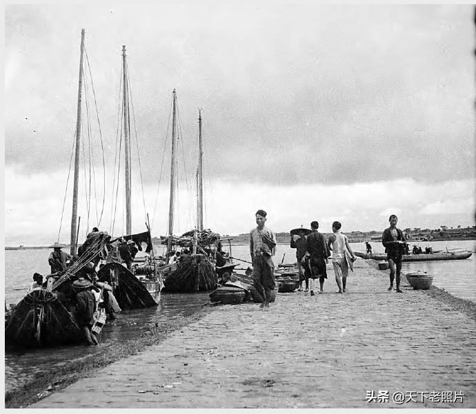 1932年广东海康老照片 90年前的海康街景及人文风貌