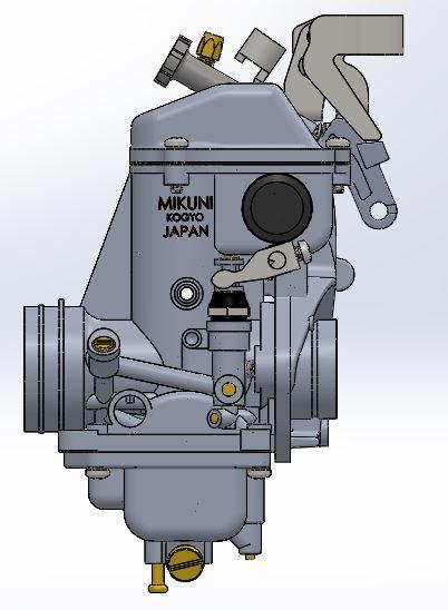 SUZUKI GS750-b化油器3D数模图纸 Solidworks设计 附STEP格式