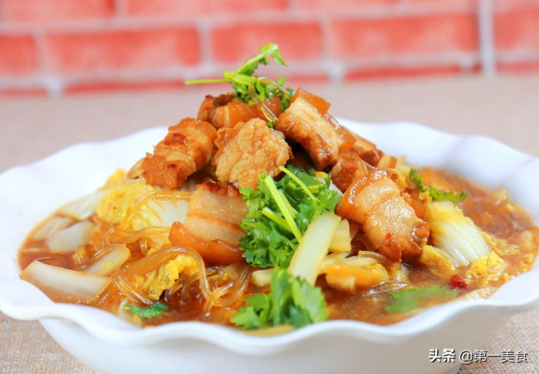 【猪肉白菜炖粉条】做法步骤图 试试厨师长这个做法 肉片鲜嫩