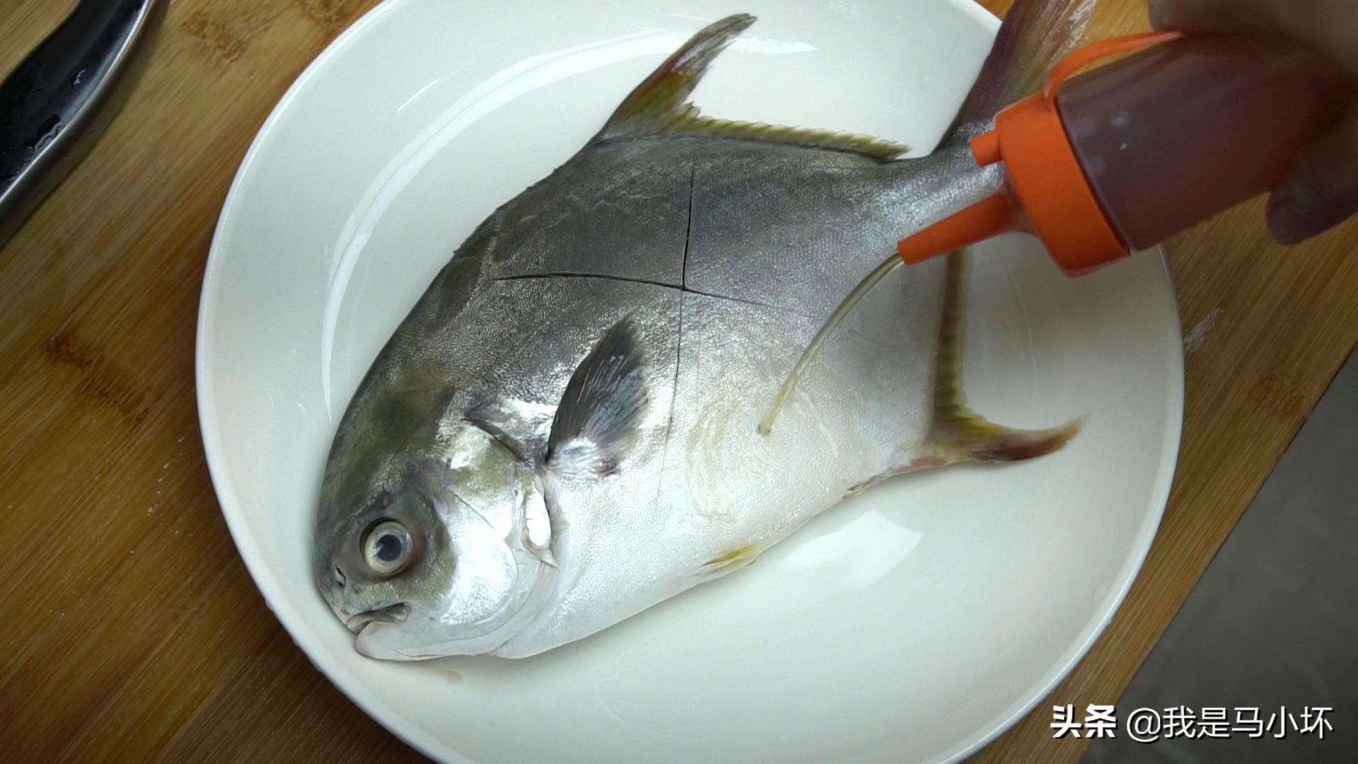 金鲳鱼这种广式特色吃法,鲜香下饭,难怪老公喜欢,实在太香了 美食做法 第2张