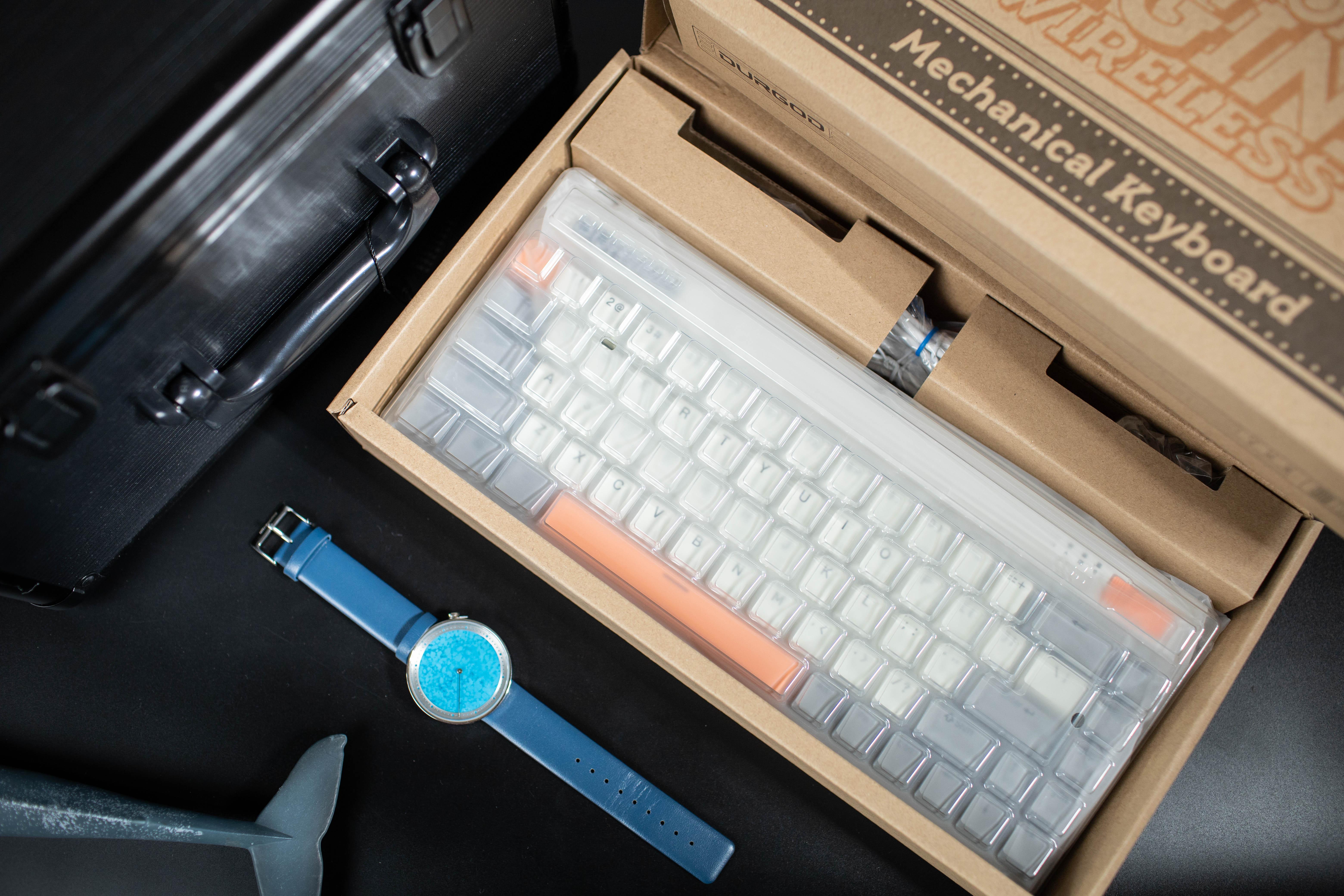 68键无线三模,复古机械短键盘,杜伽Fusion68开箱