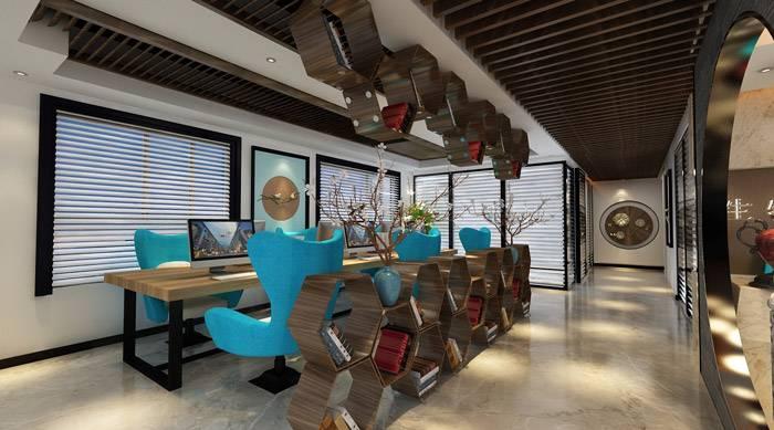 中式风格办公室装修,展现独特的东方美感