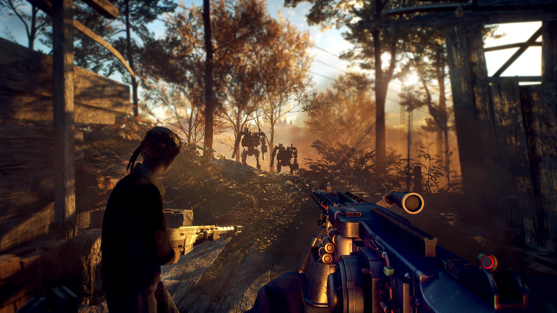 一款末日生存题材的第一人称射击游戏