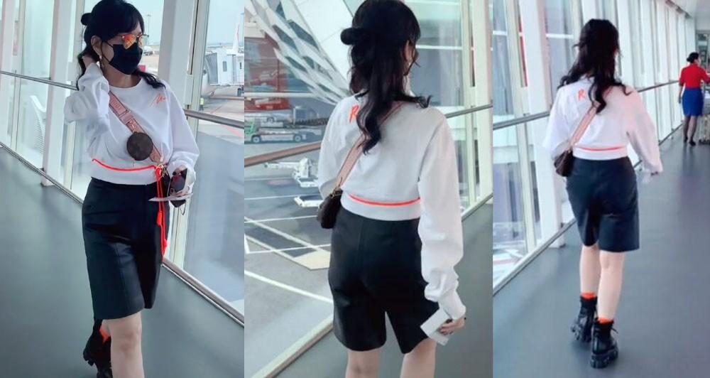 """赵雅芝终于穿得像67岁,西装配靴子,看到""""小鸟腿""""阿姨自叹不如"""