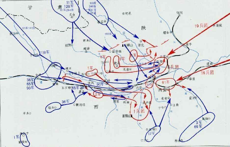 咸阳阻击战中的钢铁堡垒连,只剩9枚手榴弹,顽强守住阵地