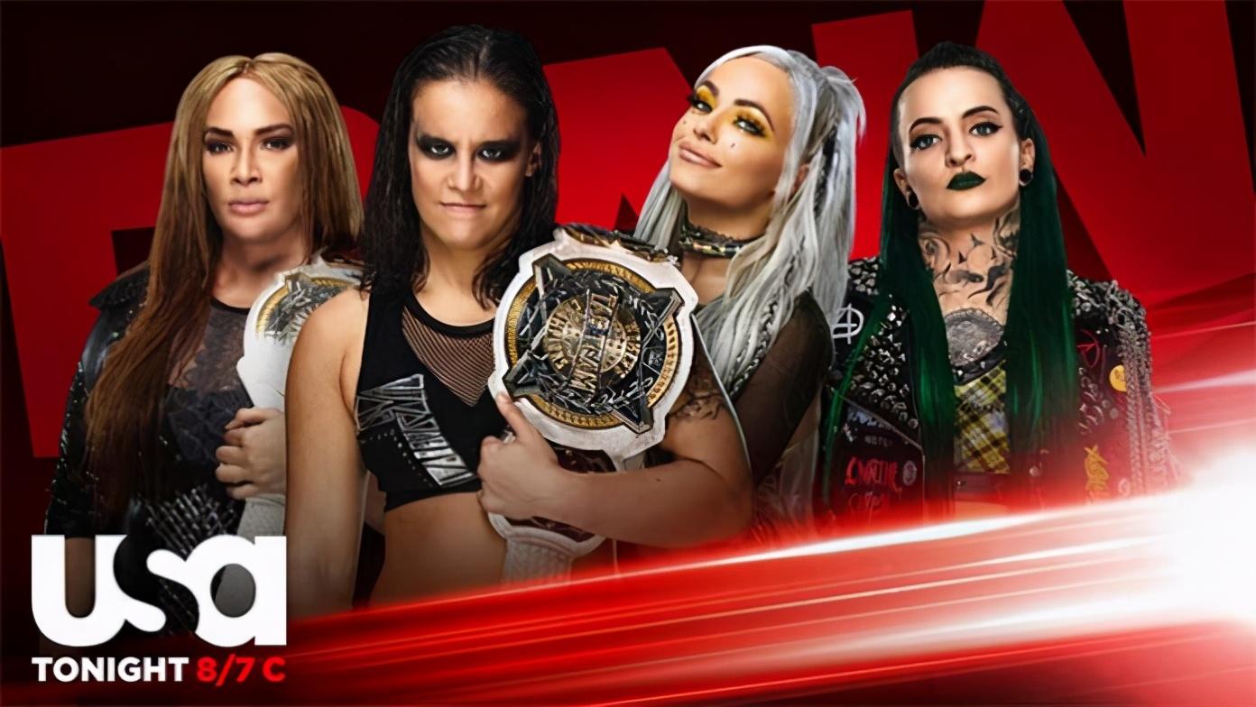 今日RAW看点:女双冠军战 WWE天之骄子与毒蛇奥顿组团对打