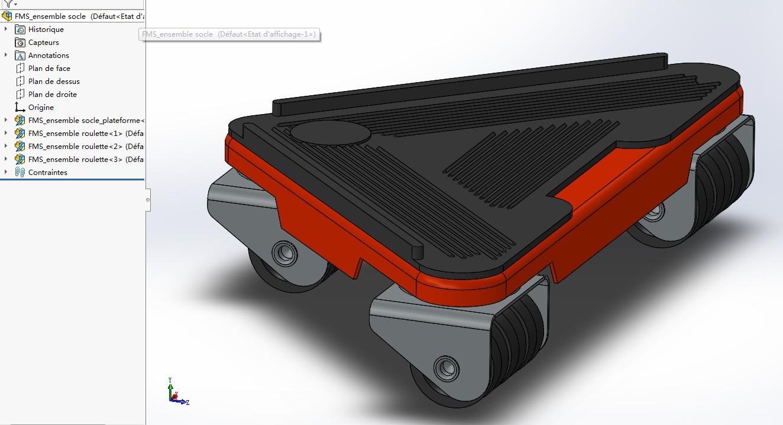 家具移动三角底座模型3D图纸 Solidworks设计 附STEP