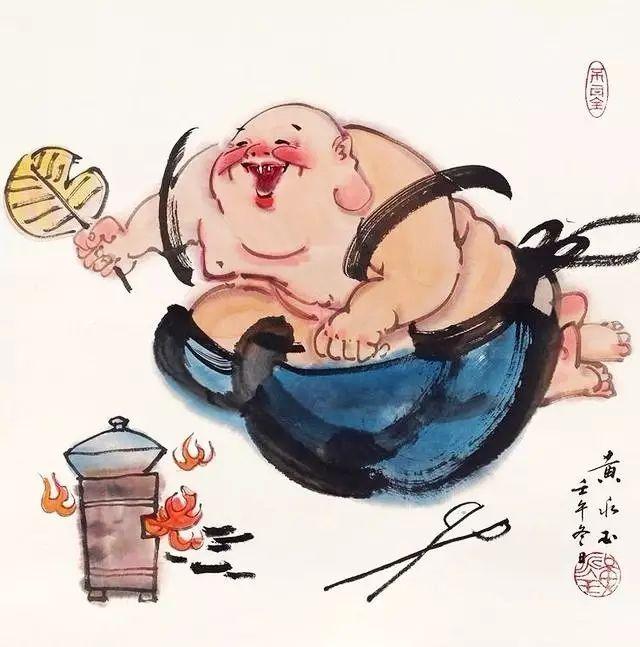 黄永玉 笔下的茶酒画,满满的人生趣味