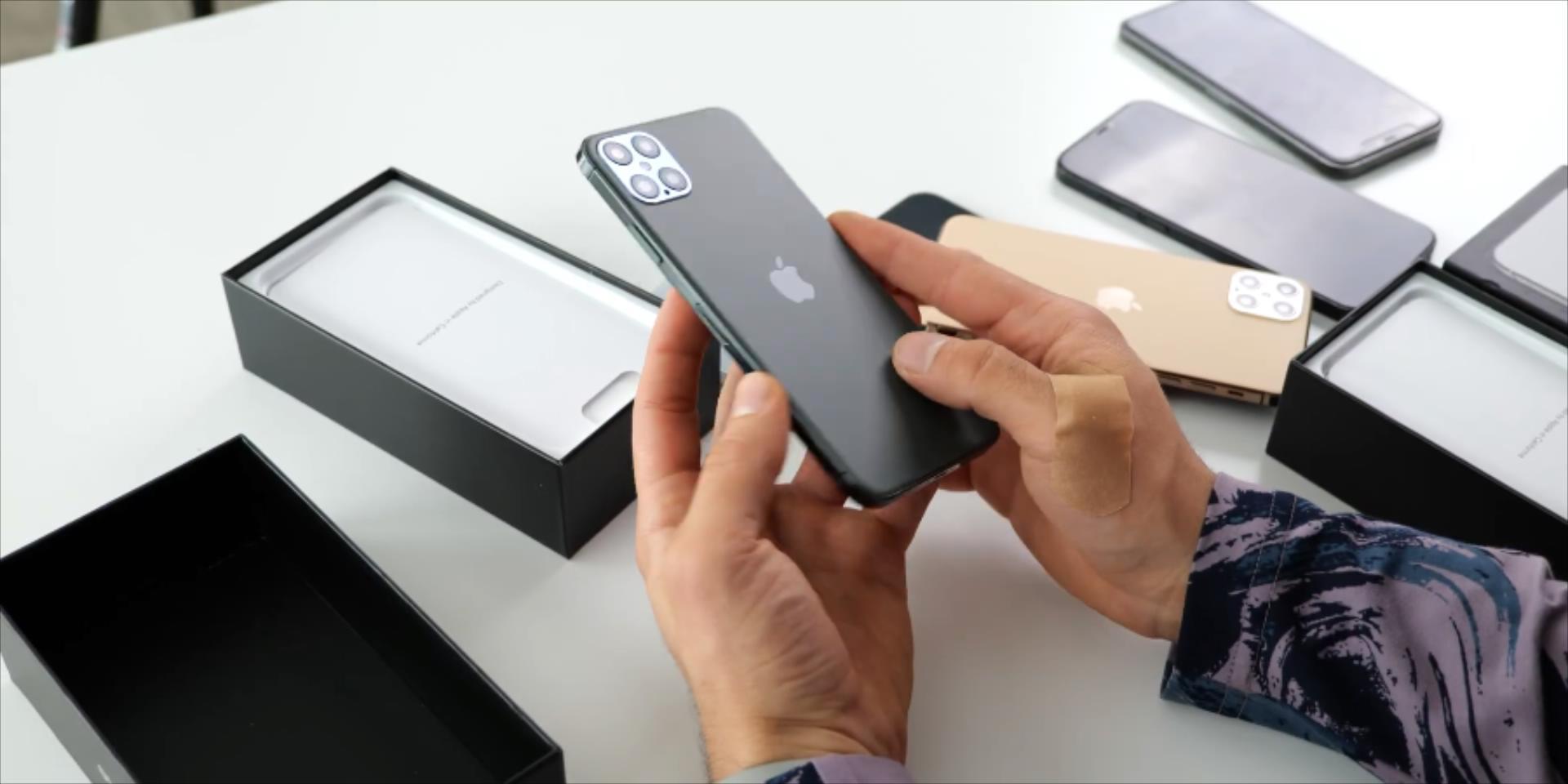 高仿iPhone12ProMax拆箱:集成浴霸四摄流海保存,向iPhone4献给