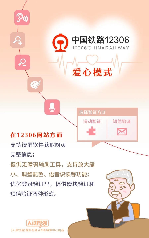 鐵路12306網站為老年人及障礙人士購票提供便利服務