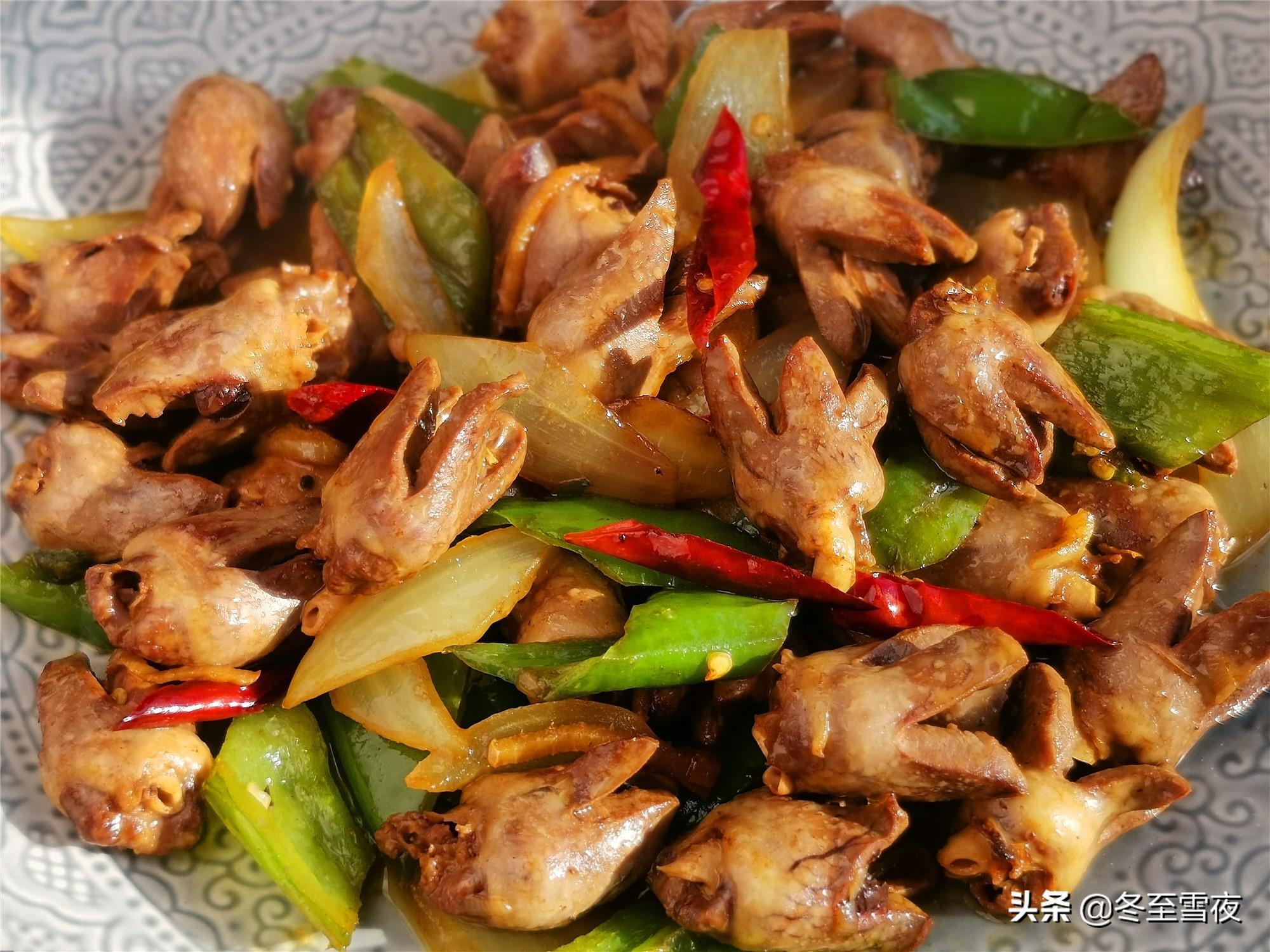 鸡心怎样做好吃?教你这道家常做法,不腥没异味,下酒下饭好菜 美食做法 第1张