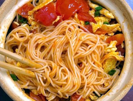 西红柿鸡蛋面家常做法掌握3点小技巧劲道爽滑比方便面好吃