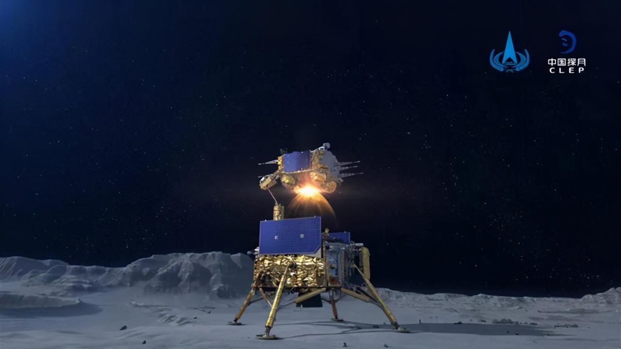 嫦娥五号上升器点火起飞!我国在月球首次实现国旗独立展示