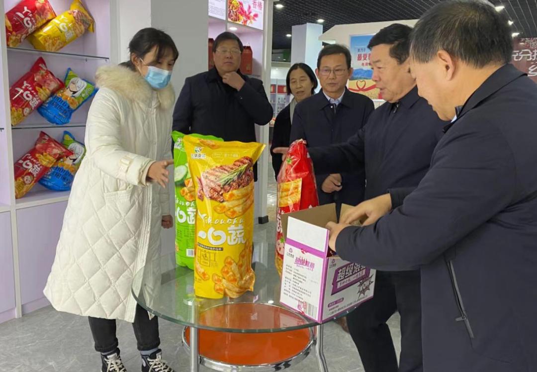 河南省人大领导一行莅临郸城县电商公共服务中心指导工作