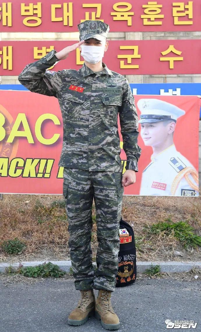 今天终于从海兵队退伍的男团爱豆