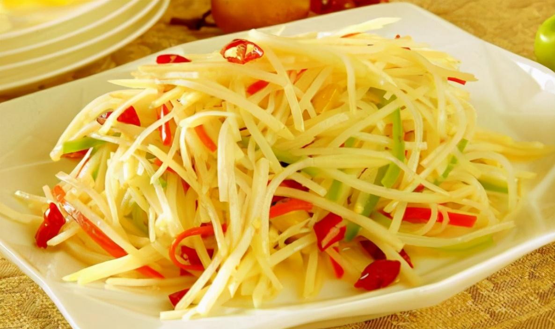 炒土豆丝,放醋时机很重要,学会2技巧,出锅鲜亮脆爽,酸辣入味 美食做法 第2张