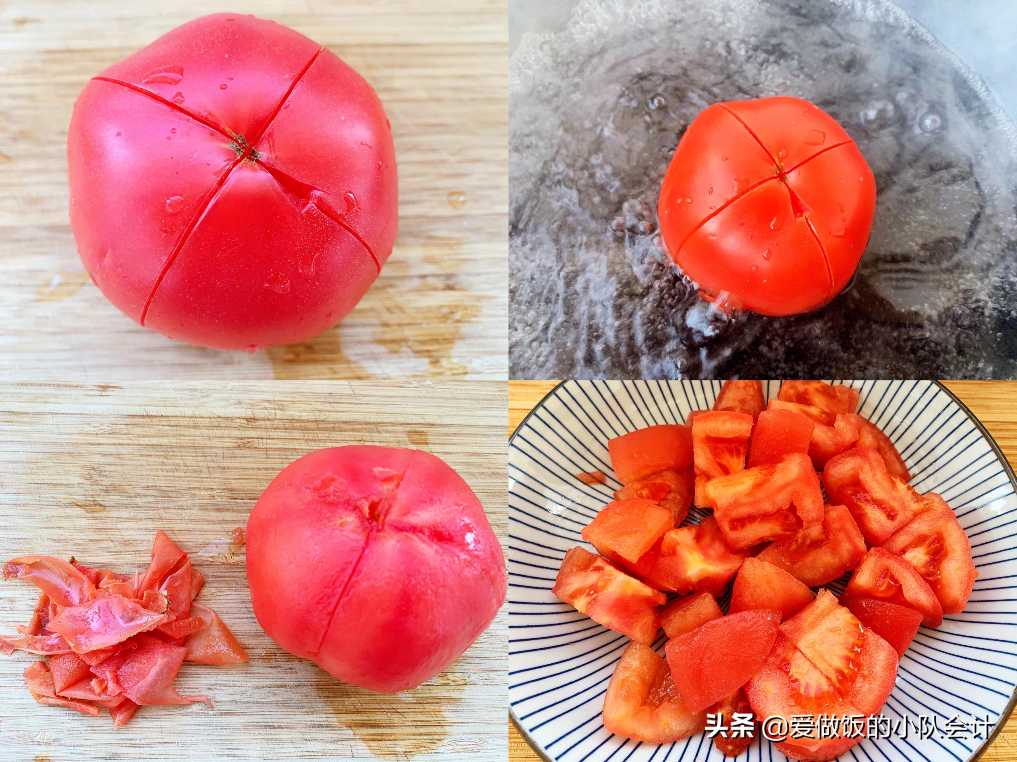 做西红柿炒鸡蛋,最怕直接下锅炒,牢记2点,汁浓蛋嫩味道香 美食做法 第4张