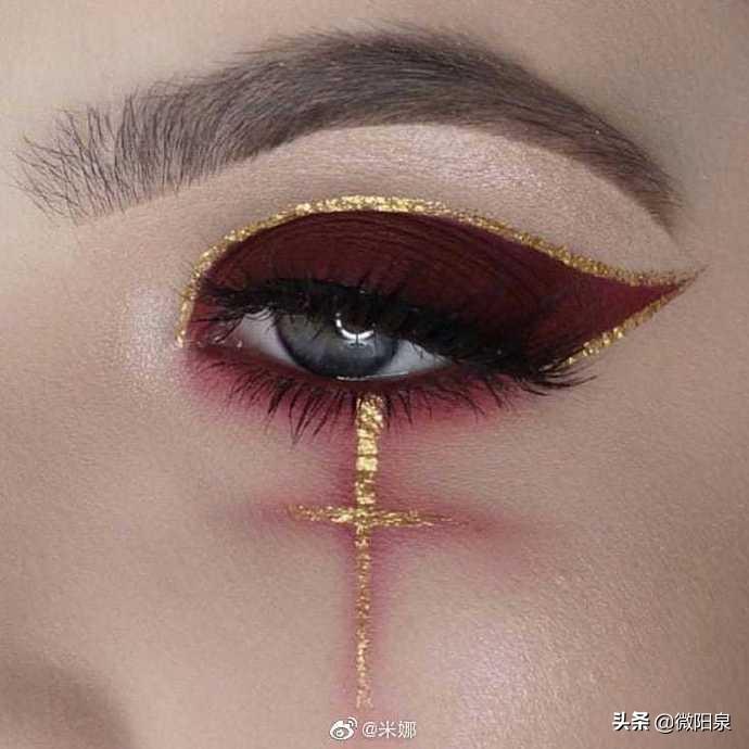#万圣节#马上要到了,赶快画一款万圣节主题的眼妆迎接万圣节吧