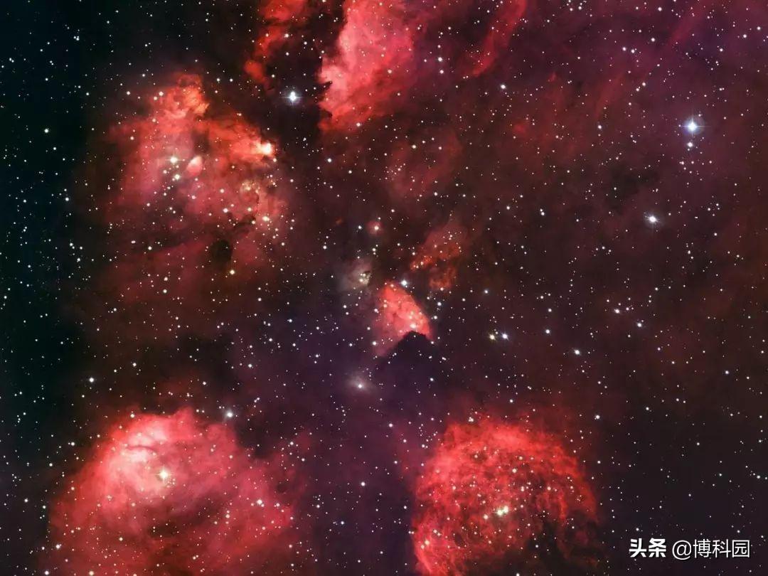 太好了,在5500光年外的猫掌星云中,发现恒星起源的新线索