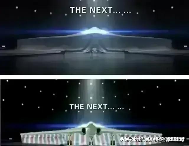 中航宣传片布下面是轰20模型还是隐身无人机