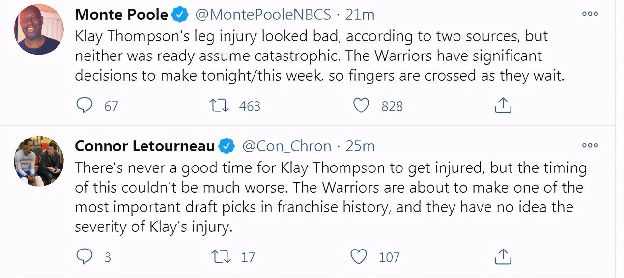 湯普森確認小腿受傷!膝蓋傷病的524天後他又倒下了,記者:目前情況不容樂觀!-籃球網