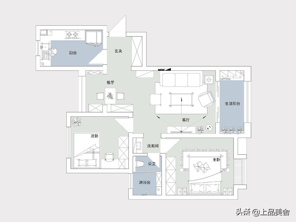 参观上海夫妻87平米新房,全屋北欧风格,每一处都简单有设计感