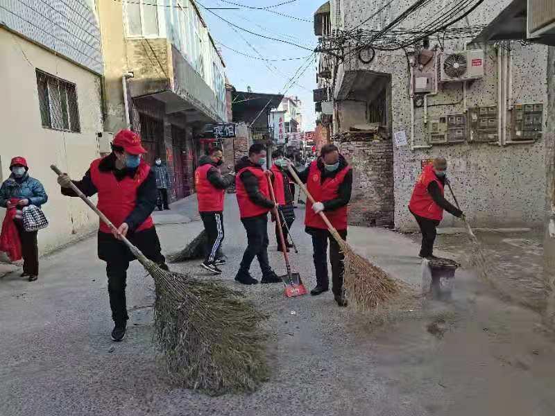 春大扫安徽:界首市志愿服务联合会启动迎新除进基层活动